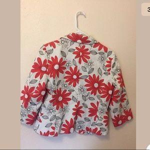 LOFT Jackets & Coats - NEW Ann Taylor LOFT white floral orange blazer 8